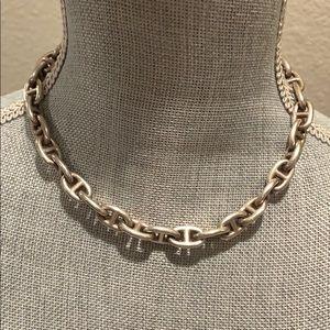 Hermès Chaine d' Acre Silver Necklace